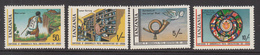1981 Tanzania Post Office Commonwealth Flags Complete Set Of 4 MNH Sg328 - Tanzania (1964-...)