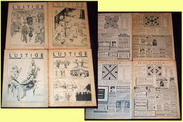 1929 Lustige Blätter - Lot Of 4 Original Humor Magazines (no Covers), Comics, Satire - Books, Magazines, Comics