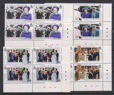 Falkland Islands 1999 Queen Mother's Century 4v Bl Of 4 (corner)  ** Mnh (39632B) - Falklandeilanden