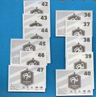 DT258XXXXX LOT 11 CARTE FOOT COUPE MONDE PANINI FAMILY FIERS ETRE BLEU 2018 Carrefour FOOTBALL N°36 à 40 Et 42 à 47 - French Edition