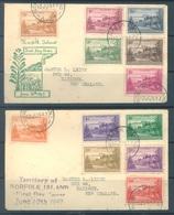 NORFOLK ISLAND - FDC - 10.6.1947 - BALL BAY  - Yv 1-12- Lot 17604 - Ile Norfolk