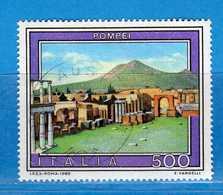 Italia °- Anno 1989 - TURISTICA- POMPEI . USATO. Unif. 1890.  Vedi Descrizione - 6. 1946-.. Republik