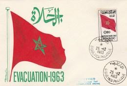 MAROC FDC 1963 - Yvert 470 évacuation Des Forces étrangères Drapeau - Morocco (1956-...)
