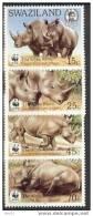 SWAZILAND N° 525/528 RHINOCEROS ** - W.W.F.