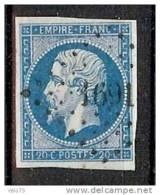 N° 14Ah VARIETE POSTFS OBLITERE PC 1961 TTB - 1853-1860 Napoleon III