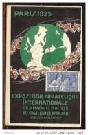 N° 214 OBLITERE EXPO. DES ARTS DECORATIFS 12/5/25 SUR CP DE L'EXPO. - 1921-1960: Moderne