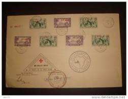 DAHOMEY ENVELOPPE COMMEMO JOURNEE PHIL DU 30/4/44 AU PROFIT DE LA CROIX ROUGE - Briefe U. Dokumente
