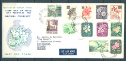 NORFOLK ISLAND - FDC - 14.2.1966 - DECIMAL CURRENCY OVERPRINT  - Yv 62-73- Lot 17605 - Ile Norfolk