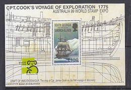 South Georgia 1999 Australia/Capt. Cook's Voyage Of Exploration M/s ** Mnh (39635) - Zuid-Georgia