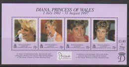 South Georgia 1998 Princess Diana M/s ** Mnh (39636) - Zuid-Georgia