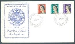 NORFOLK ISLAND - FDC - 5.8.1968 - ELIZABETH II INTRODUCTION OF COIL POSTAGE STAMPS  - Yv 95-97 - Lot 17606 - Ile Norfolk
