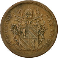 Monnaie, États Italiens, PAPAL STATES, Pius IX, 2 Baiocchi, Muraiola, 1853 - Vaticano (Ciudad Del)