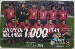 AIRTEL - SELECCION ESPAÑOLA DE FUTBOL - USADA 1ª CALIDAD - A549 - Spain