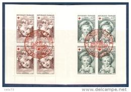 CARNET CROIX ROUGE DE 1962 OBLITERE PJ D'ANGOULEME EN ROUGE - Carnets