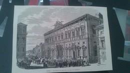 Affiche (gravure) - ROME - Le Palais Du Quirinal Un Jour De Réception - Afiches