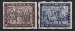 SBZ / Leipziger Herbstmesse  /  MiNr.: 198, 199 - Sowjetische Zone (SBZ)