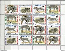 Ethiopie 2001. Michel #1704/07 MNH/Luxe. Klb. WWF. Grevy's Zebra. (Ts55) - Horses
