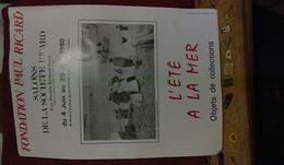 """Affiche Club FONDATION RICARD 32X45 """"l'été à La Mer"""" SAINT VALERY EN CAUX 1980  TBE  M Brisgand - Posters"""