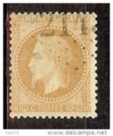 N° 28 OBLITERE GC VARIETE FILET DU BAS ABSENT - 1863-1870 Napoléon III Lauré
