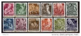 LIECHTENSTEIN N° 251/262 SERIE COURANTE OBLITEREE TTB - Liechtenstein