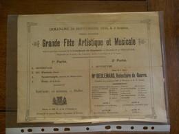 Aankondiging   Grande Féte Artistique Et Musicale  1916 - 1914-18