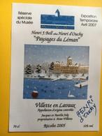 8642 - Musée Du Vieil Ouchy 2007 SuissePaysages Du Léman Henri J.Bell Alias Henri D'Ouchy Signature Autographe - Art