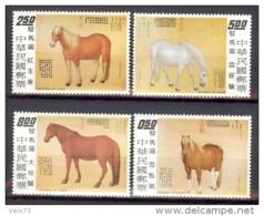 FORMOSE N° 919/921+924/928 SERIE CHEVAUX ** - 1945-... République De Chine