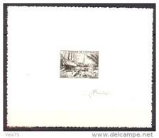 OCEANIE N° 204 FIDES EN EPREUVE D'ARTISTE NOIRE SIGNE PHEULPIN TTB - Oceanië (1892-1958)