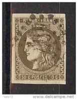 N° 47 OBLITERE GC TTB SIGNE CALVES - 1870 Emission De Bordeaux