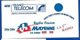 A.C RADIO MAYENNE 96.6  100 - Stickers