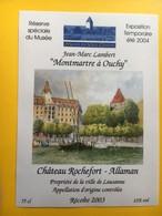 8644 - Musée Du Vieil Ouchy 2004 Suisse Montmartre à Ouchy Jean-Marc Lambert Château Rochefort Allaman 2003 - Art