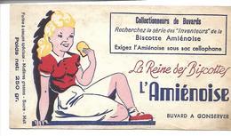 Buvard La Reine Des Biscottes L'Amiénoise. - Alimentare