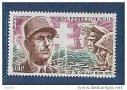 ST PIERRE PA 53 DE GAULLE ** - Poste Aérienne