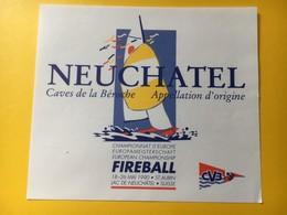 8648 - Neuchâtel Caves De La Béroche Championnat D'Europe Fireball St-Aubin 1990 Suisse - Sailboats & Sailing Vessels
