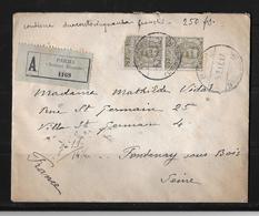 1917 Italy → Old Regitered Cover With 45c X2 Victor-Emmanuel III - 1900-44 Victor Emmanuel III.