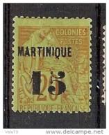 MARTINIQUE N° 5 * - Martinique (1886-1947)