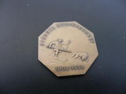 Medaille - Schweden Skiverband - Svenska Skiförbundet 1908 - 1958 - Tokens & Medals