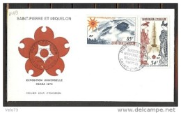 ST PIERRE PA 48/49 SUR ENVELOPPE PJ ILLUSTREE - St.Pierre Et Miquelon