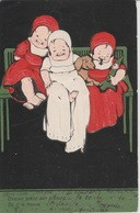 18 / 7 / 330. -  BÉBÉS. -  CPA.  GAUFRÉE - Children's Drawings
