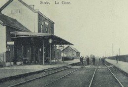 Reproduction Stree Beaumont  Hainaut Gare Station - Beaumont