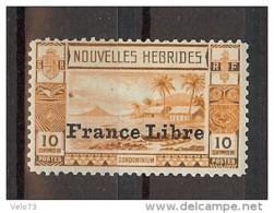 NOUVELLES HEBRIDES N° 125 FRANCE LIBRE ** - Légende Française