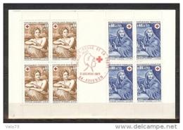 CARNET CROIX ROUGE 1969 OBLITERE ROUGE PJ AVIGNON - Carnets