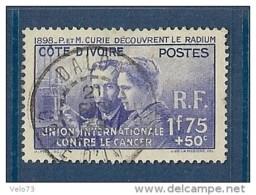 COTE D'IVOIRE N° 140 MARIE CURIE OBLITERE TTB - Ivory Coast (1892-1944)