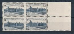 FRANCE - BLOC DE 4 N°YT 781 NEUF** SANS CHARNIERE - COTE YT : 2.80€ - 1947 - Unused Stamps