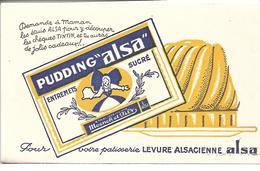 Buvard Pudding Alsa. Pour Votre Pâtisserie Levure Alsacienne Alsa. Ets Moench Et Fils. - Alimentaire