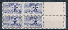 FRANCE - BLOC DE 4 N°YT 783 NEUF** SANS CHARNIERE - COTE YT : 5.60€ - 1947 - Unused Stamps