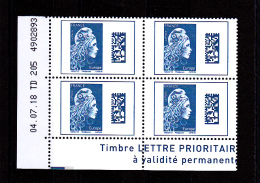 France 2018 / Coin Daté / 04.07.18 TD 205 / Marianne L'engagée /  Europe (1,20 €) - Dated Corners