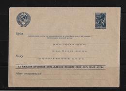 1938 Soviet Union → Unused 30 Kopek Blue Postal Stationery Letter Cover H&G 97 - Covers & Documents
