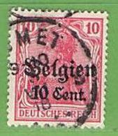 MiNr.14 O  Deutschland Deutsche Besetzg,1.WK Belgien - Occupation 1914-18