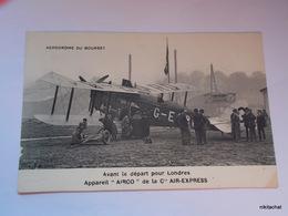 """AERODROME DU BOURGET-Avanat Le épart Pour Londres-Appareil """"AIRCO"""" De La Cie Air-Express - Le Bourget"""